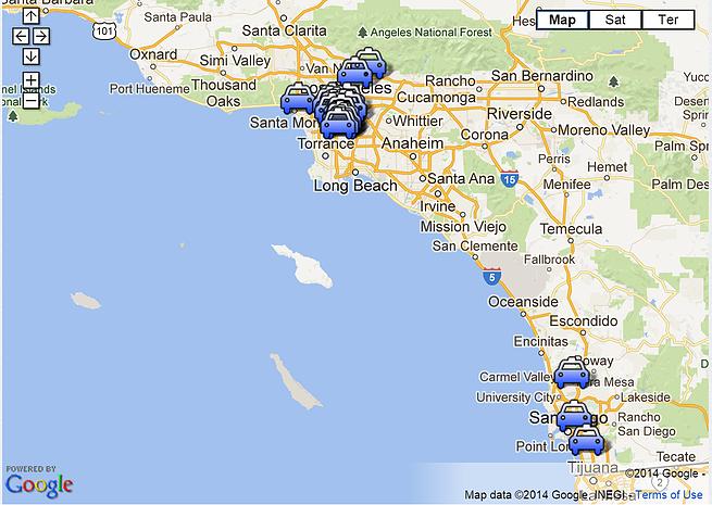 carwash map