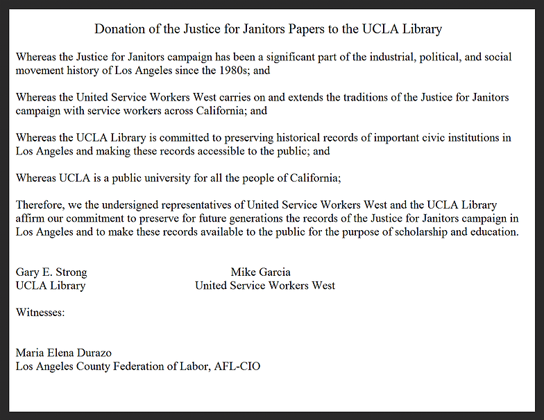 donation to UCLA Library