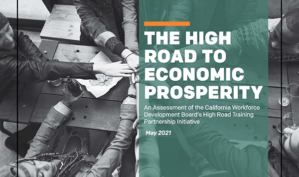 Workforce Development Team Releases New Study on High Road Training Partnerships